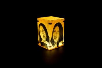 Sculptural selfie lightbox