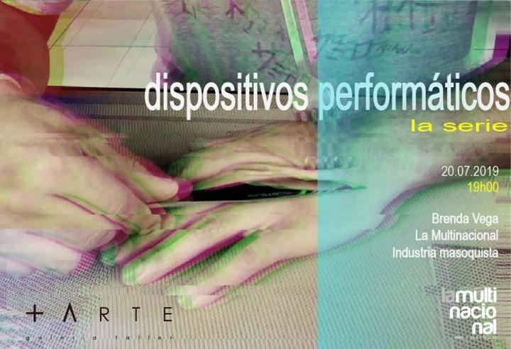 Dispositivos performáticos la serie afiche