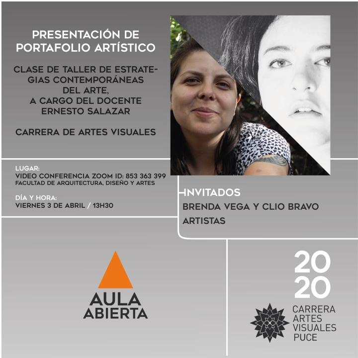 AULA ABIERTA BRENDA VEGA CLIO BRAVO MAR 2020_Mesa de trabajo 1